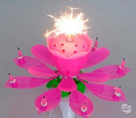 Danuojanti muzikinė gimtadienio žvakė