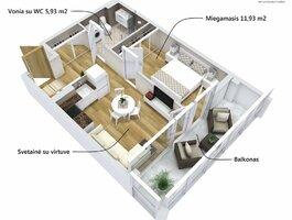 2 kambarių butas Alytuje, Vidzgiryje, Santaikos g.