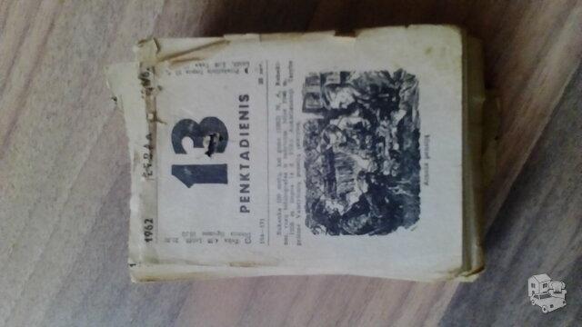 1962m.kalendoriaus lapeliai