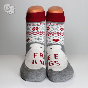 Kojinės su kalėdiniais motyvais