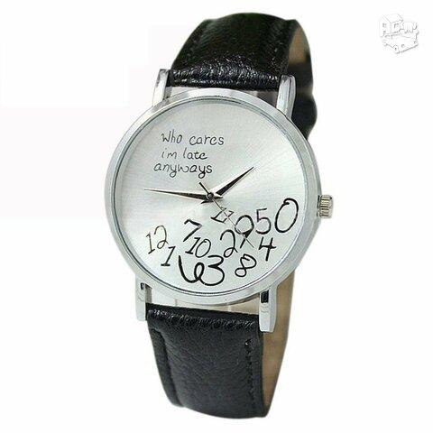 Juodas odinis laikrodis