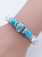 "Žydro turkio apyrankė ""Made with Love"""