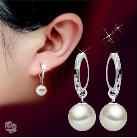Pasidabruoti balto perlo auskarai