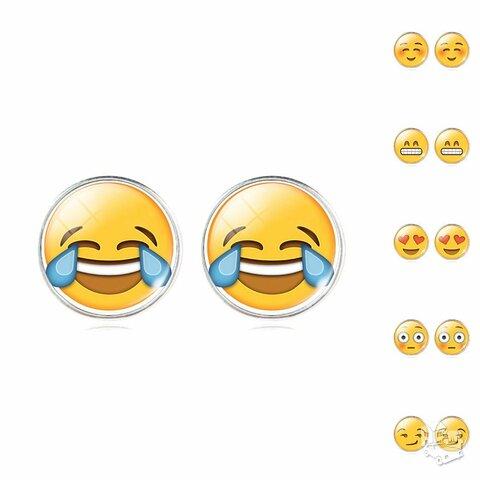 Šmaikštūs Emoji auskarai