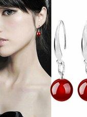 Pasidabruoti raudono perlo auskarai