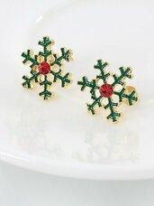 """Kalėdiniai auskarai """"Snowflakes"""""""