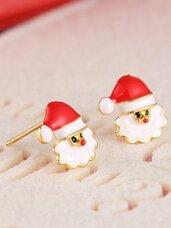 """Kalėdiniai auskarai """"Santa Claus"""""""