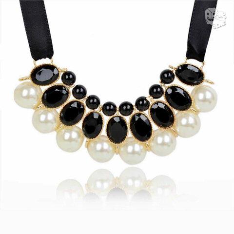 Kaklo papuošalas su perlais