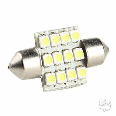 12 LED smd 12 V 31 mm salono apšvietimas. 2 vnt.