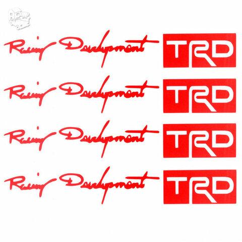 TOYOTA TRD lipdukai (raudoni) 2 vnt