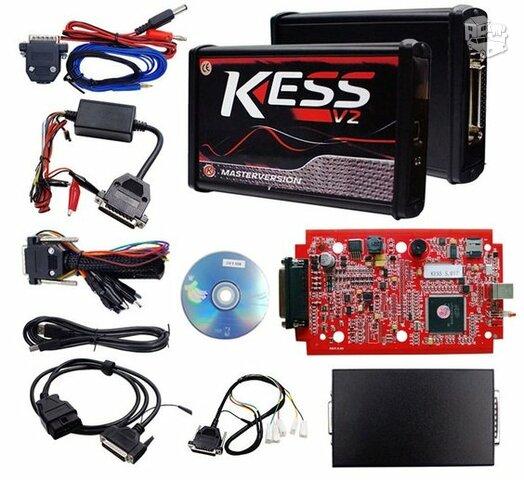 KESS V2 OBD2 Chipavimo programatorius RED version Master V5.017