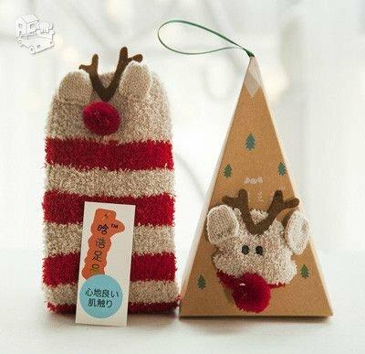 Kalėdinės šiltos kojinės