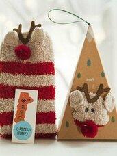 """Kalėdinės šiltos kojinės """"Rudolfas"""""""