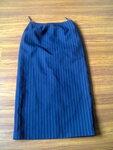 Sijonas mėlynos spalvos su juostelėmis