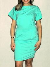 Mėtinės/elektrik spalvos suknelė.
