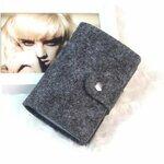 Kredito kortelių dėklas, tamsiai pilkas