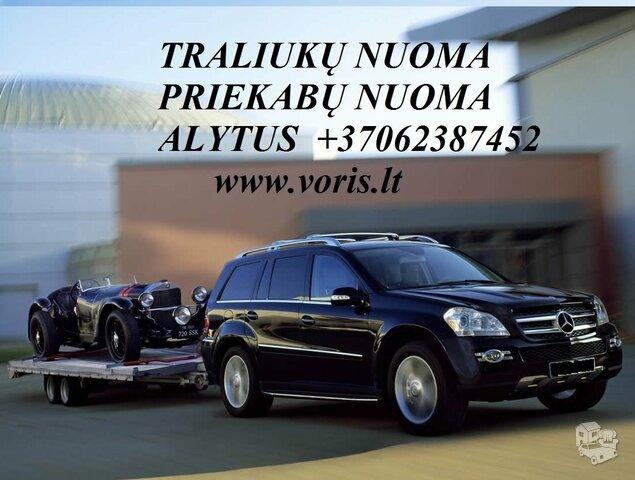 TRALIUKO/PLATFORMOS/PRIEKABOS NUOMA ALYTUS! +37062387452 www