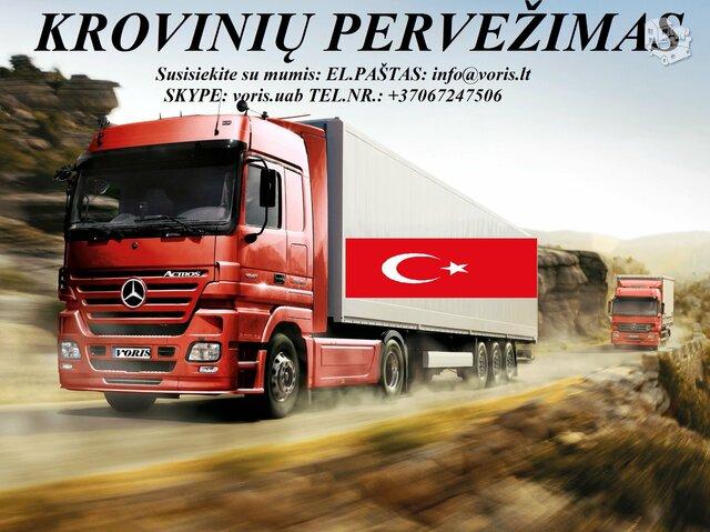 Skubių krovinių/siuntų gabenimas transportu į/iš Turkijos/
