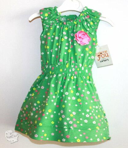 Puošni carter's suknutė 0-3 mėn. mergaitei.