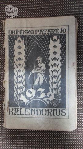 Ukininko kalendorius 1932m