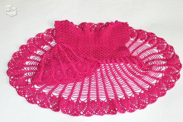 Puošni nerta suknelė su kepuryte mergaitei