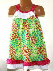 Suknelė ant šleikučių 2-4 met. mergaitei
