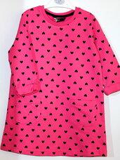 Suknelės 2-3 metų mergaitėms su širdutėmis