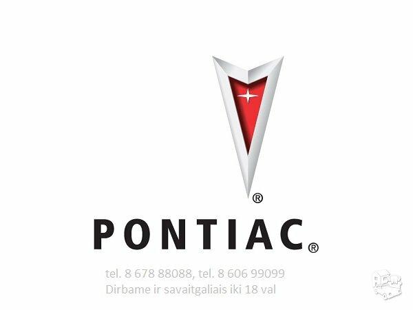 Pontiac Dalimis Naudotos Pontiac Dalys