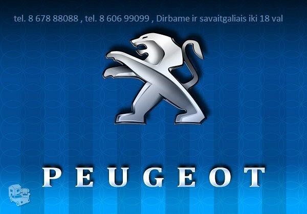 PEUGEOT Dalimis Naudotos Peugeot Dalys