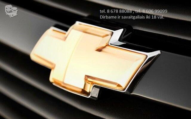 Chevrolet Dalimis Naudotos Chevrolet Dalys