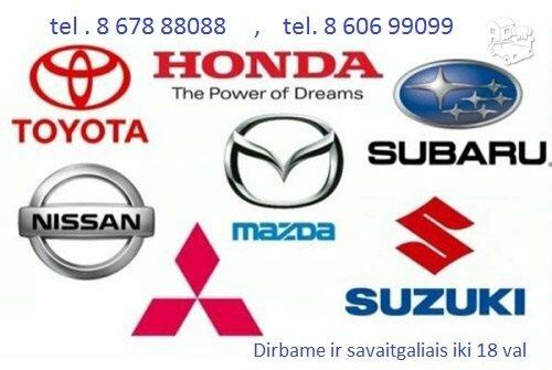Japoniškų automobilių dalys, Toyota, Subaru, Nissan, Mazda