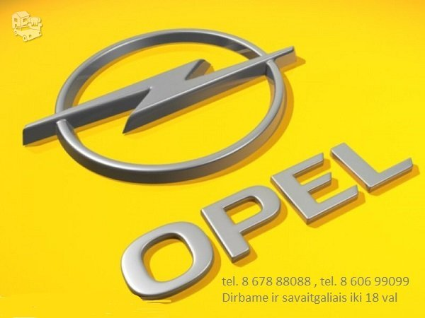 OPEL Dalimis Naudotos Opel Dalys Naujos