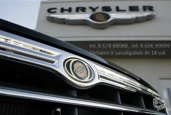Chrysler Town Country dalimis, automobiliu dalys