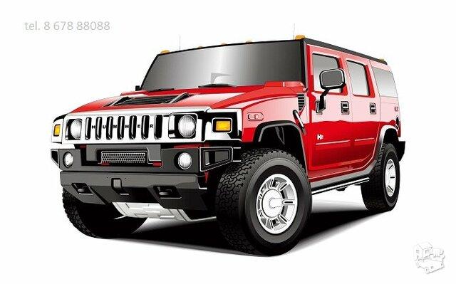 Hummer auto dalimis : H1 H2 H3 H3t amerikonu dalys