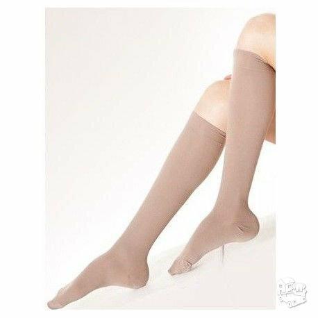 Medicininės kojinės iki kelių. 200den, 2 kompresinės klasės, 25