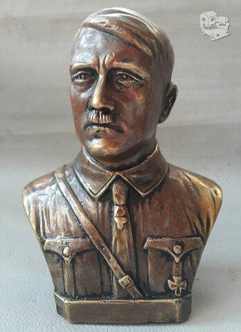 Senas A.Hitlerio bronzinis sunkus biustas
