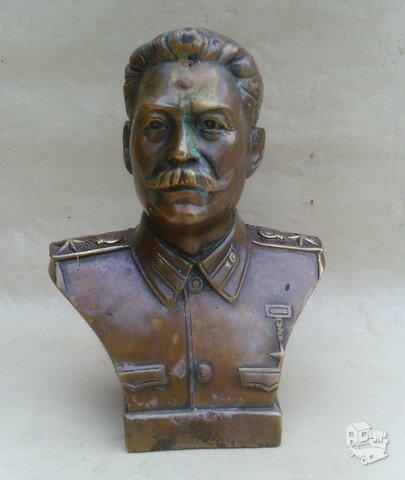 Senas J.STALINO bronzinis biustas