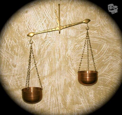 Pakabinamos svarstyklės - bronza, žalvaris