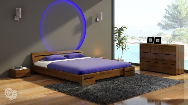 Skandinaviško dizaino medinė lova ANNA