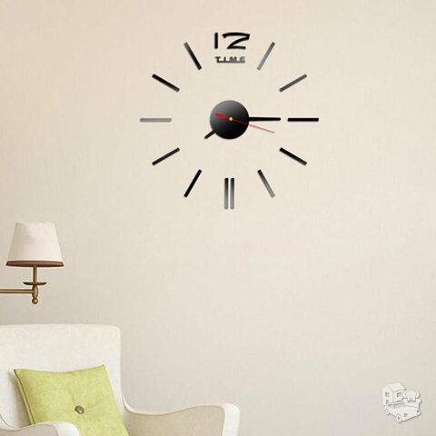 Modernus veidrodinis sieninis laikrodis-lipdukas