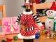 Kalėdinė butelio dekoracija