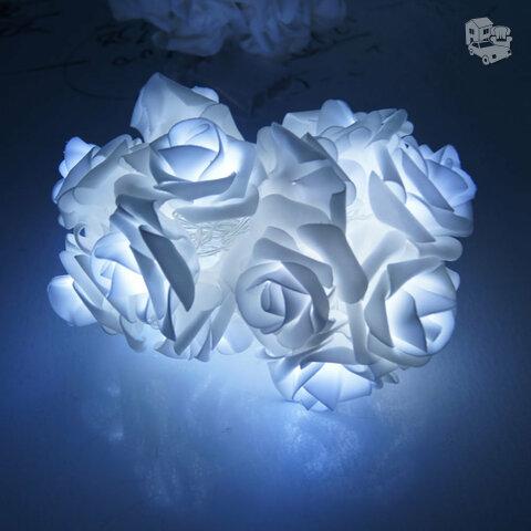 Led dekoracija Roses, griliandoje 20 rožių
