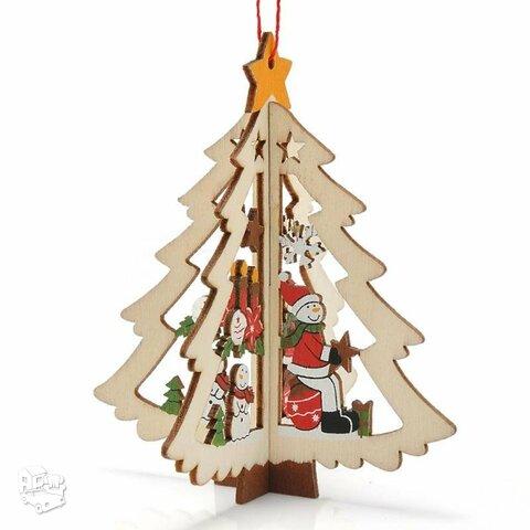 Medinė kalėdinė 3D dekoracija