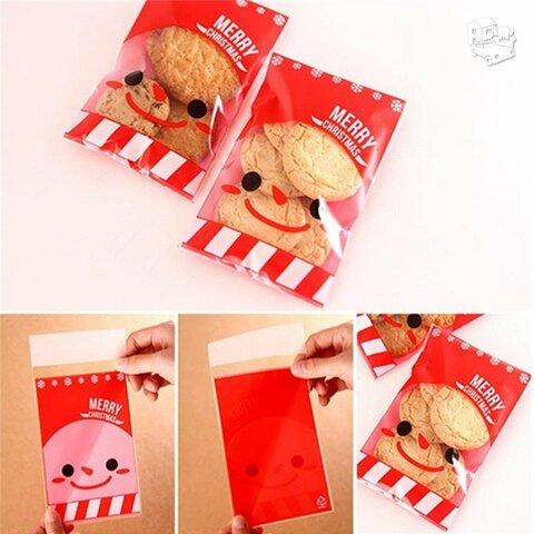 Kalėdiniai sausainių saldainių pakavimo maišeliai