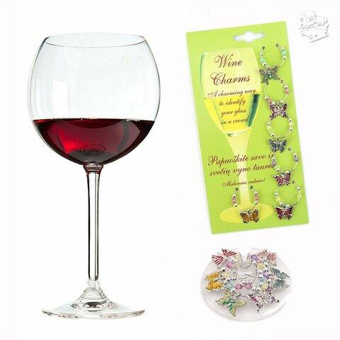 Spalvingi vyno taurių skirtukai