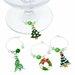 Kalėdiniai vyno taurių skirtukai, 6vnt. + dovanų dėžutė