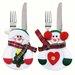 Kalėdinė dekoracija stalo įrankiams