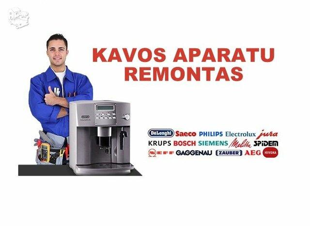 Kavos aparatų taisykla Klaipėdoje ir Žemaitijoje