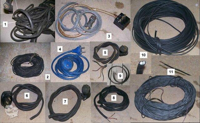 Tvarkingi lankstūs gumuoti variniai kabeliai