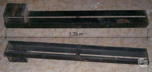 Iš dviejų L formos kampuočių suvirinta sąrama, ilgis 1,29 metro.